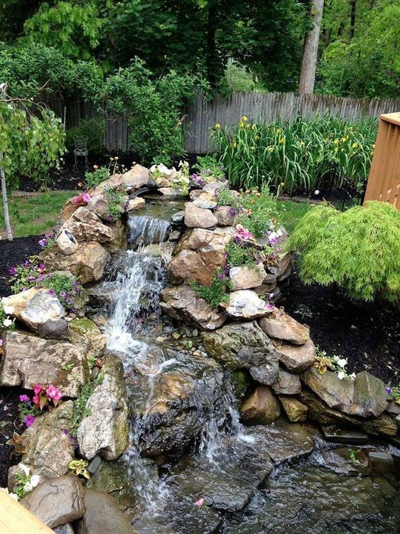 Backyard Waterfall Ideas 11