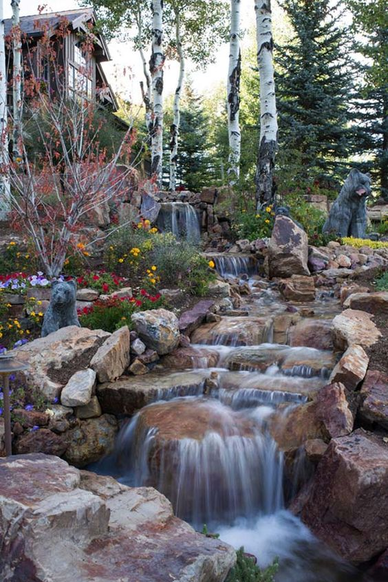 Backyard Waterfall Ideas 21