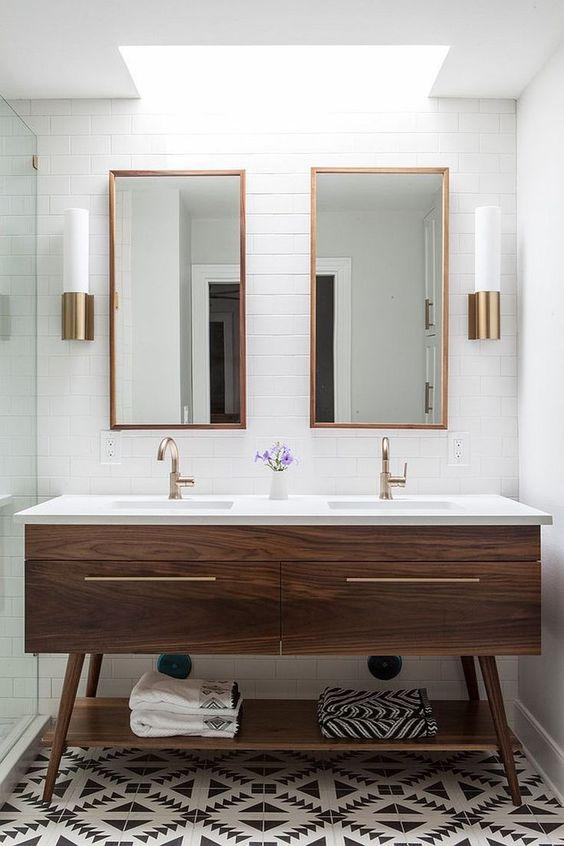 Bathroom Lighting Ideas: Stunning Double Lightings