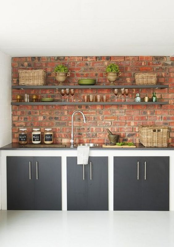 Kitchen Wall Ideas: Chic Modern Rustic