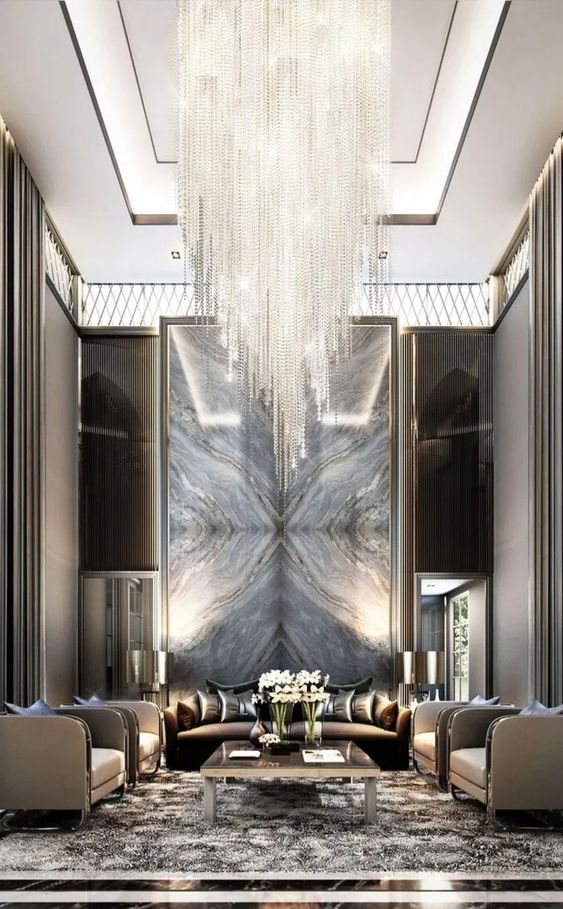 Living Room Luxury Ideas: Jaw-Dropping Crystal Chandelier
