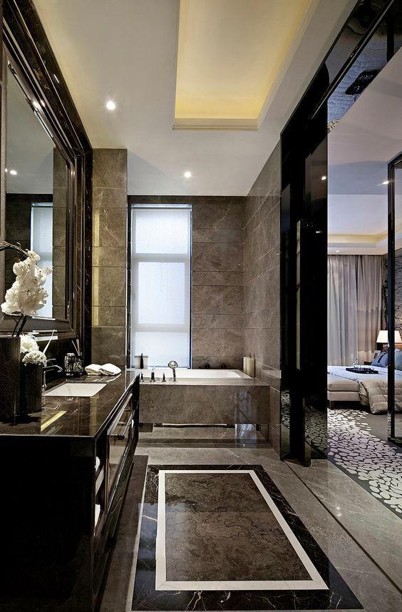 Luxury Bathroom Ideas: Captivating Black Marble