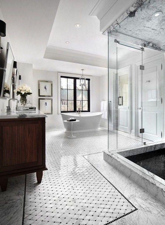 Luxury Bathroom Ideas: Elegant All-White Bathroom