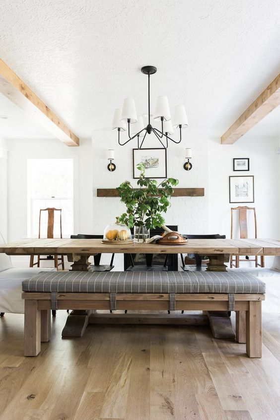 Simple Dining Room Ideas: Lovely Farmhouse Vibe