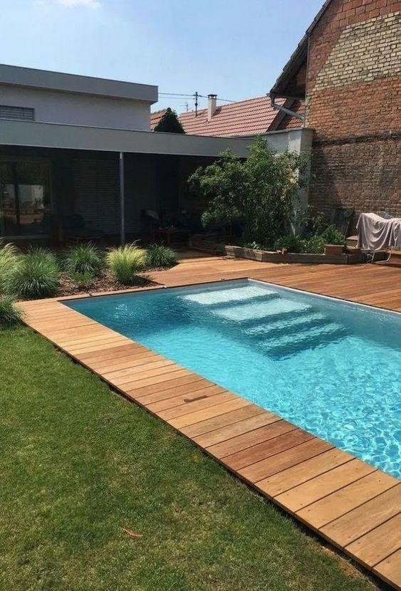 Swimming Pool Decks Ideas: Simple Wooden Deck