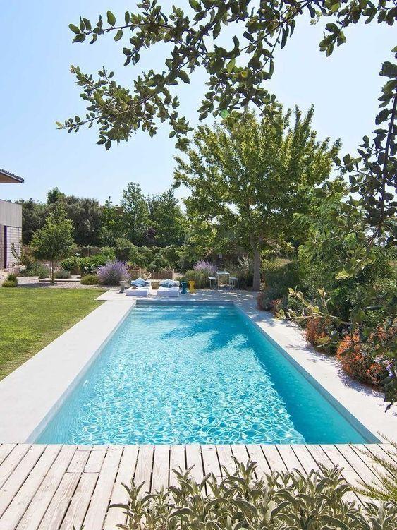Swimming Pool Decks Ideas: Minimalist Earthy Deck