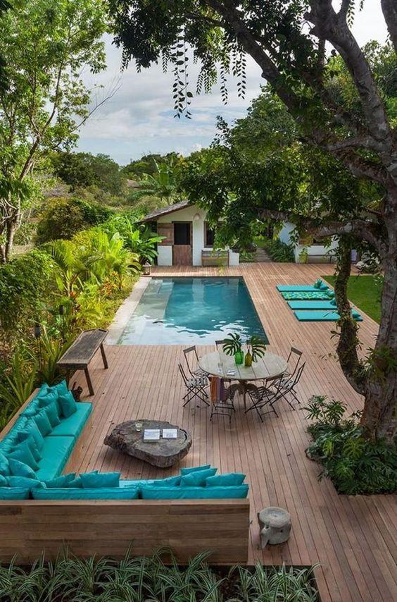 Swimming Pool Decks Ideas: Stunning Earthy Vibe