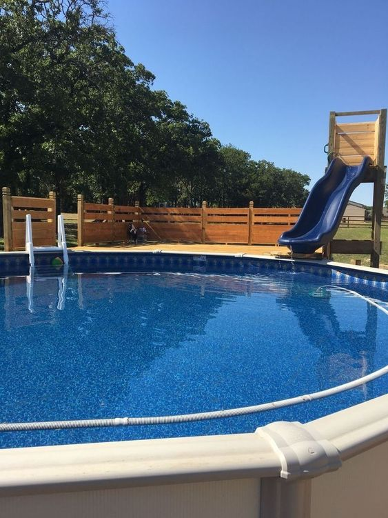 Swimming Pool with Slides Ideas: Simple Short Slide