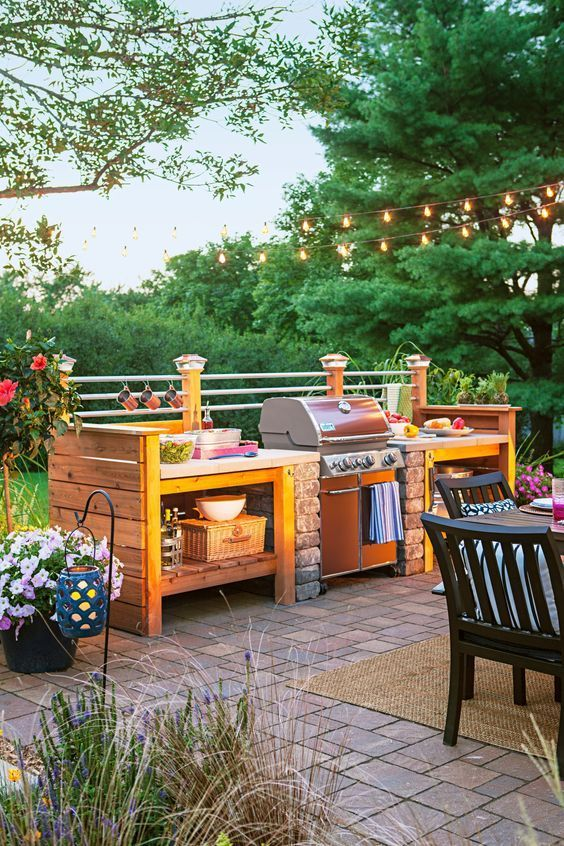 Backyard Kitchen Ideas: Lovely Rustic Decor