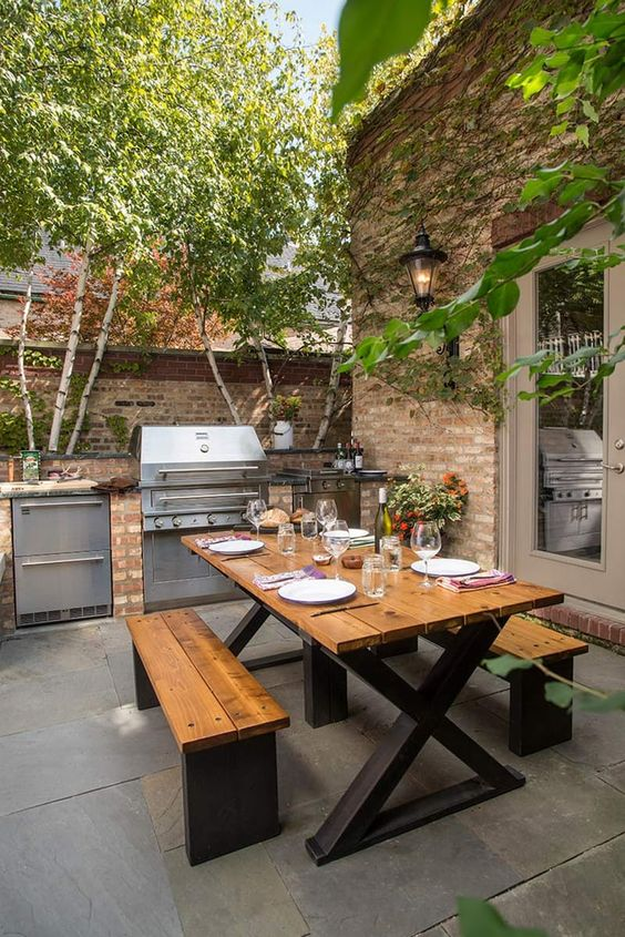 Backyard Kitchen Ideas: Simple Kitchen Layout