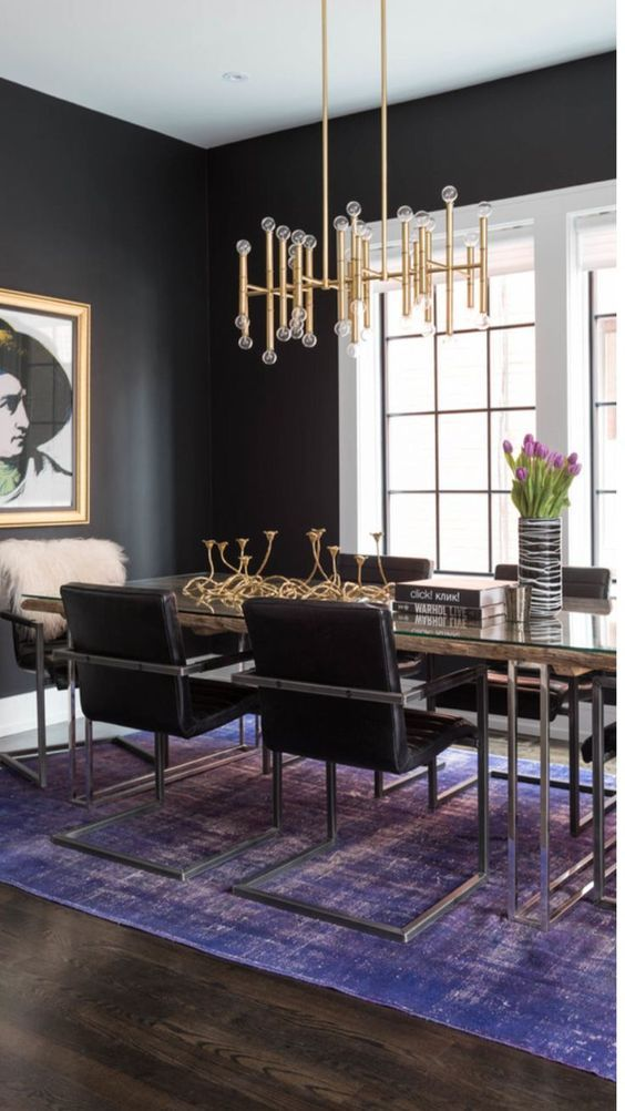 Dark Dining Room Ideas: Elegant Navy Black