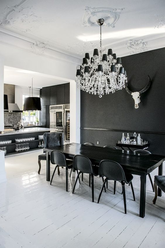 Dark Dining Room Ideas: Stunning Monochromatic Look