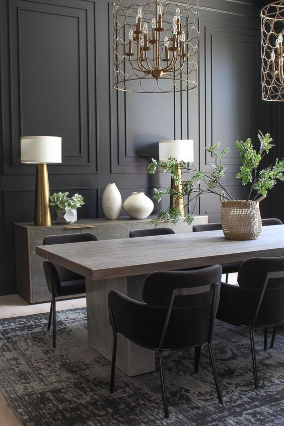 Dark Dining Room Ideas: Charming Modern Decor