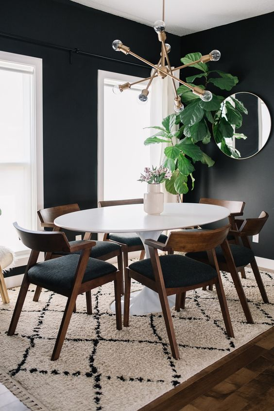 Dark Dining Room Ideas: Minimalist Farmhouse Look