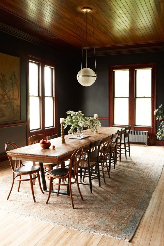 Dark Dining Room Ideas: Breathtaking Vintage Concept