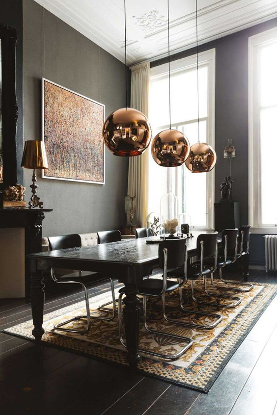 Dark Dining Room Ideas: Trendy Modern Style