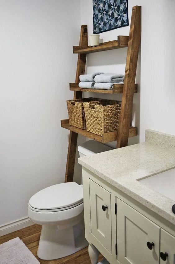 Bathroom Storage Ideas: Natural Wood Vibe