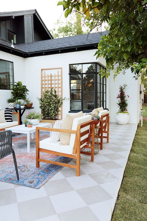 Boho Backyard Ideas: Modern Contemporary Look