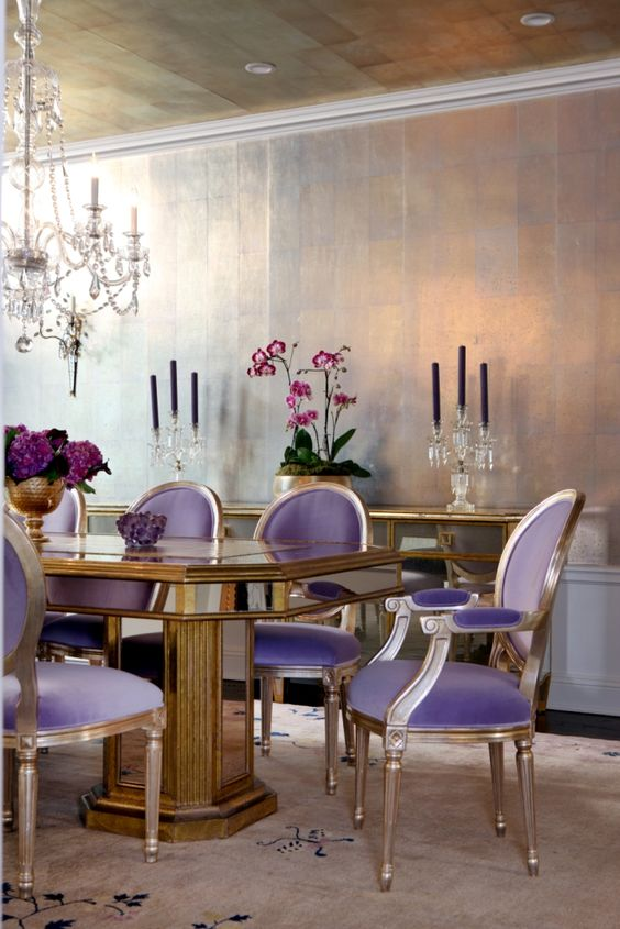 Dining Room Colors Ideas: Soft Lavender