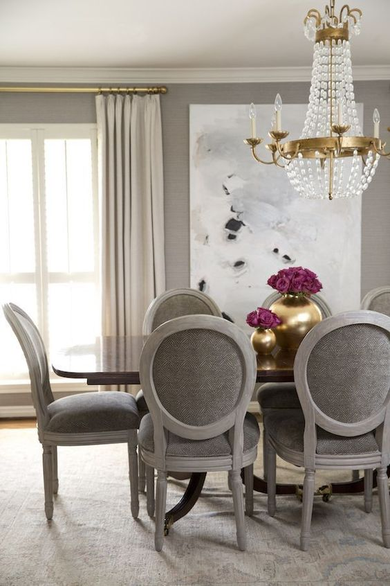 Dining Room Colors Ideas: Elegant Taupe