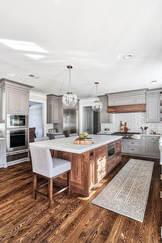 Kitchen with Island Ideas: Beautiful Dark Wood