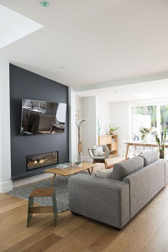 Living Room with TV Ideas: Lovely Simple Design