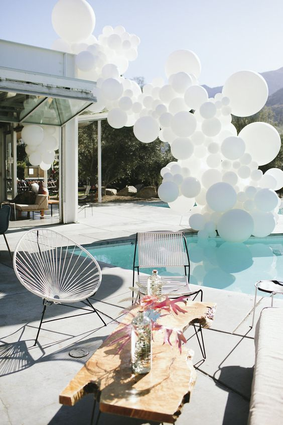 Swimming Pool Party Ideas: Eye-Catching Decoration Shape