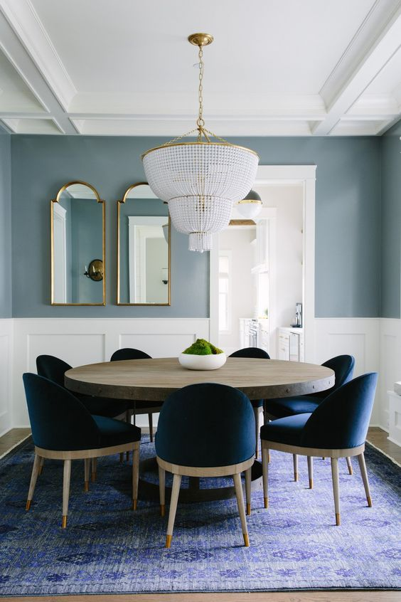 Navy Dining Room Ideas: Captivating Navy Accents