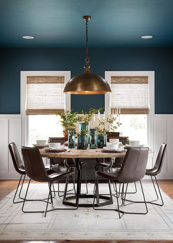Navy Dining Room Ideas: Stylish Matte Navy