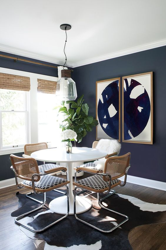 Navy Dining Room Ideas: Mid-Century Design