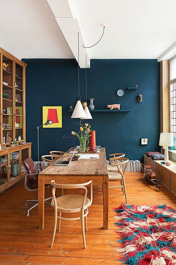 Navy Dining Room Ideas: Earthy Room Decor