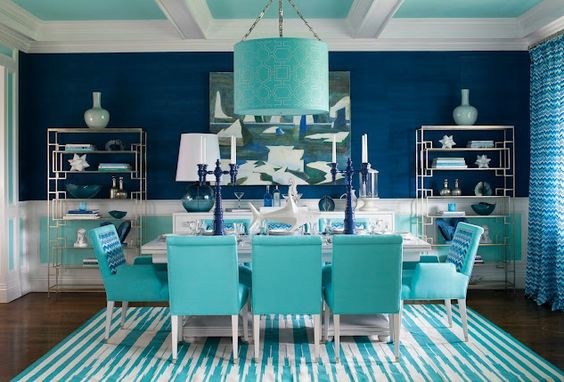 Navy Dining Room Ideas