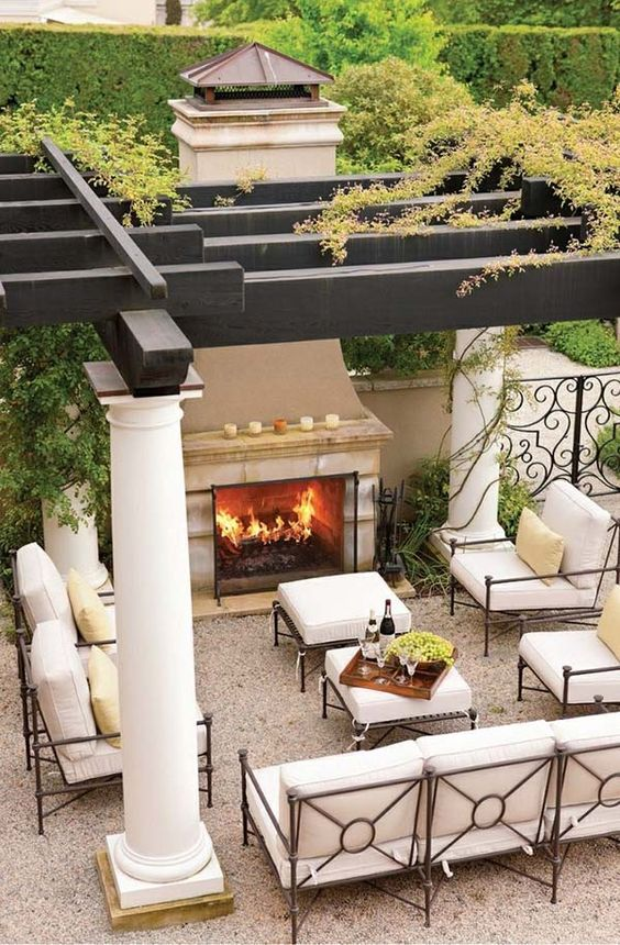 Backyard Sitting Area Ideas: Elegant Outdoor Setting