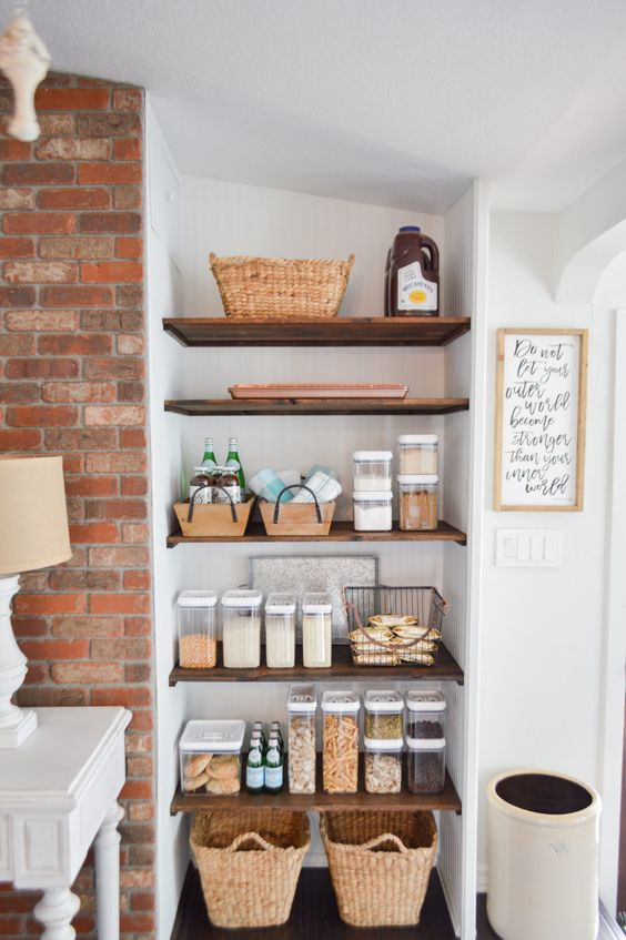 Kitchen Storage Ideas: Simple Earthy Vibe