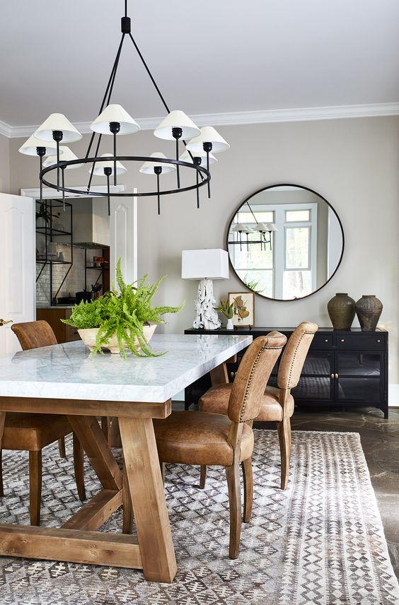 Rustic Dining Room Ideas: Mesmerizing Modern Decor