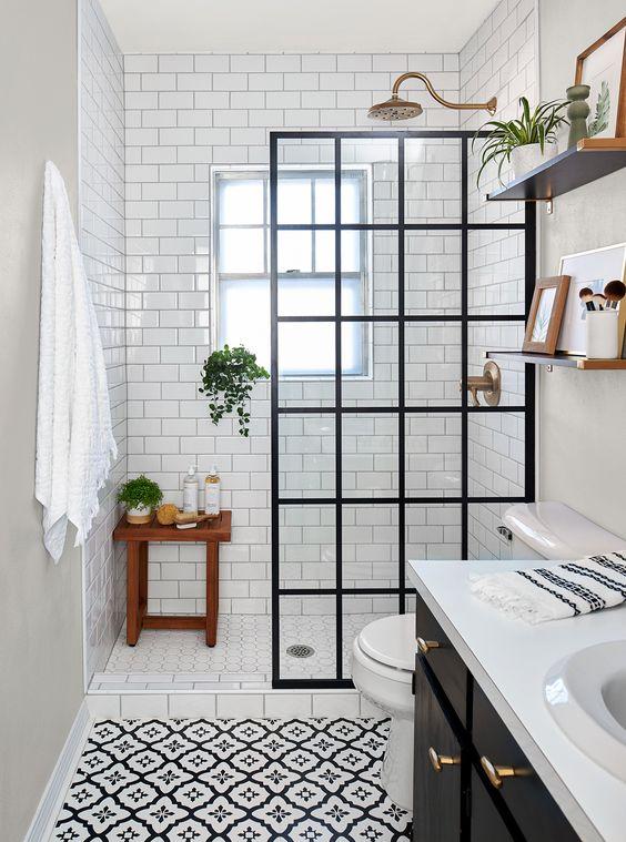 Small Bathroom Ideas: Elegant Farmhouse Concept